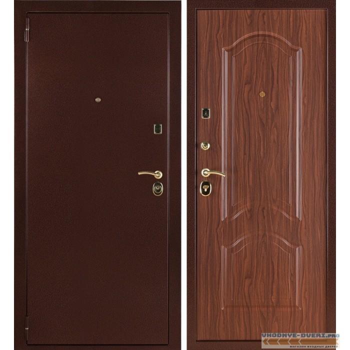 Заводские двери 3К Лайт в цвете тисненый орех