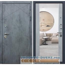Входная металлическая Дверь АСД Дуэт Б с зеркалом