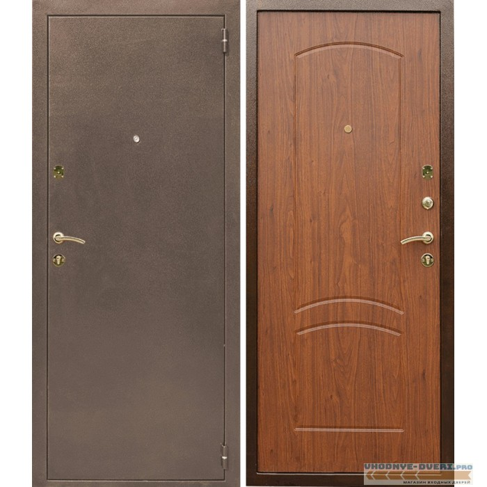 Дверь Лекс 1а в цвете тисненый орех
