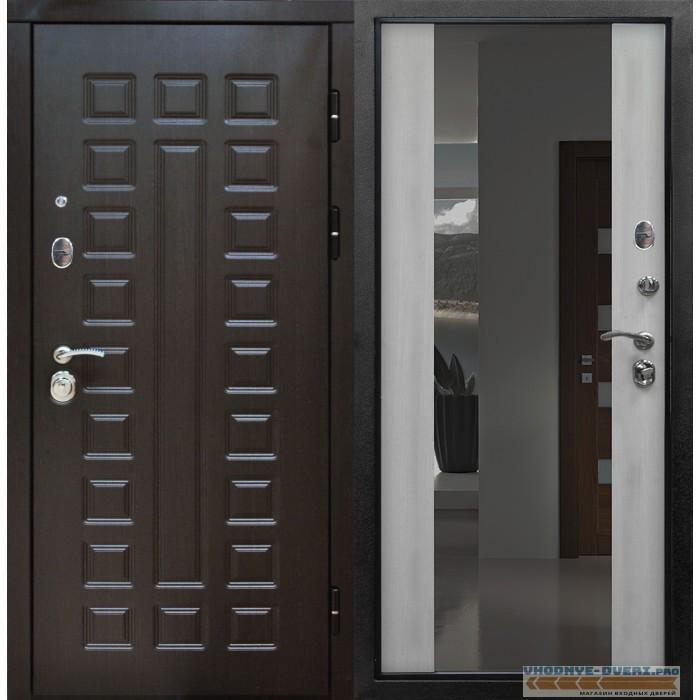 Дверь Сенатор Белёный Дуб Зеркало