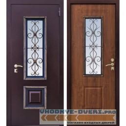 Заводские двери Ажур-1 с ковкой