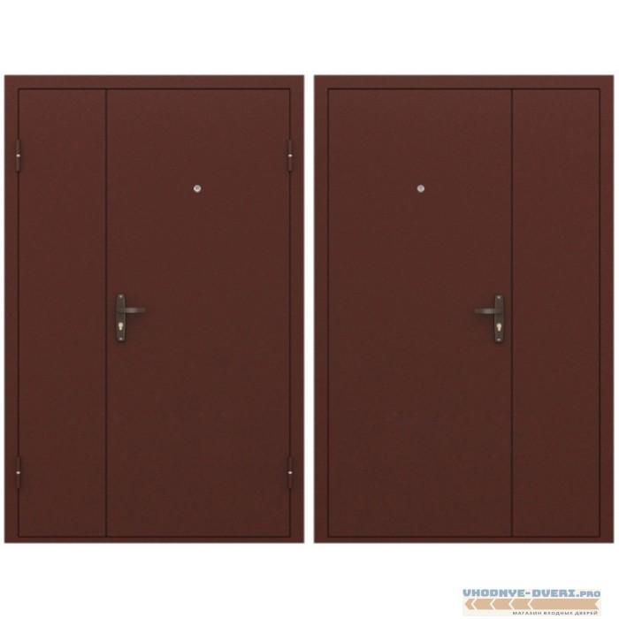 Заводские двери Двухстворчатая дверь Эконом STEEL