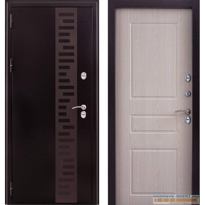 Заводские двери ТТ G301 в цвете Дуб беленый с терморазрывом
