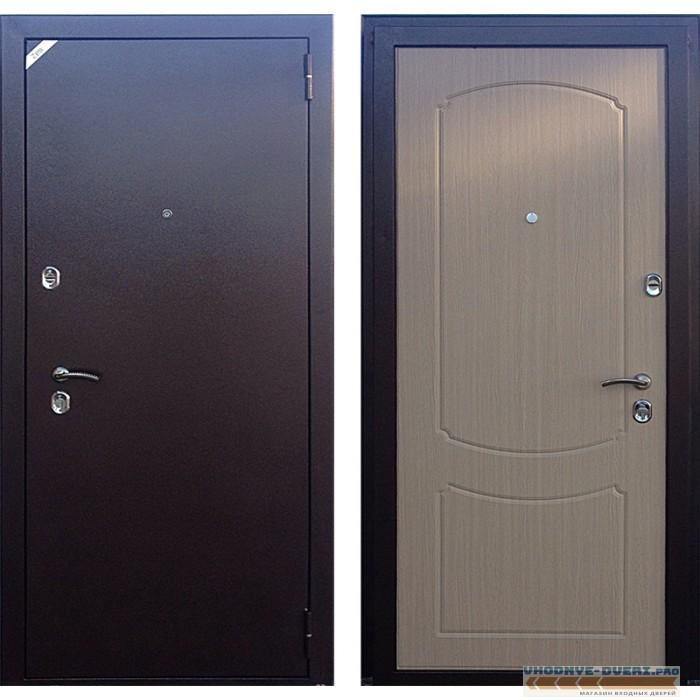 Дверь Зетта Стандарт 2 БП1 беленый венге