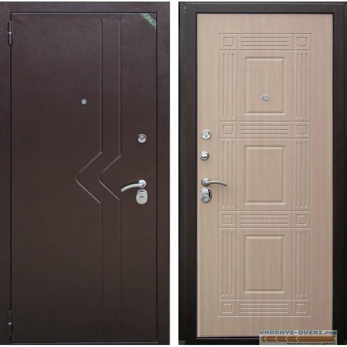 Дверь Зетта Комфорт 2-Б1 венге белёный