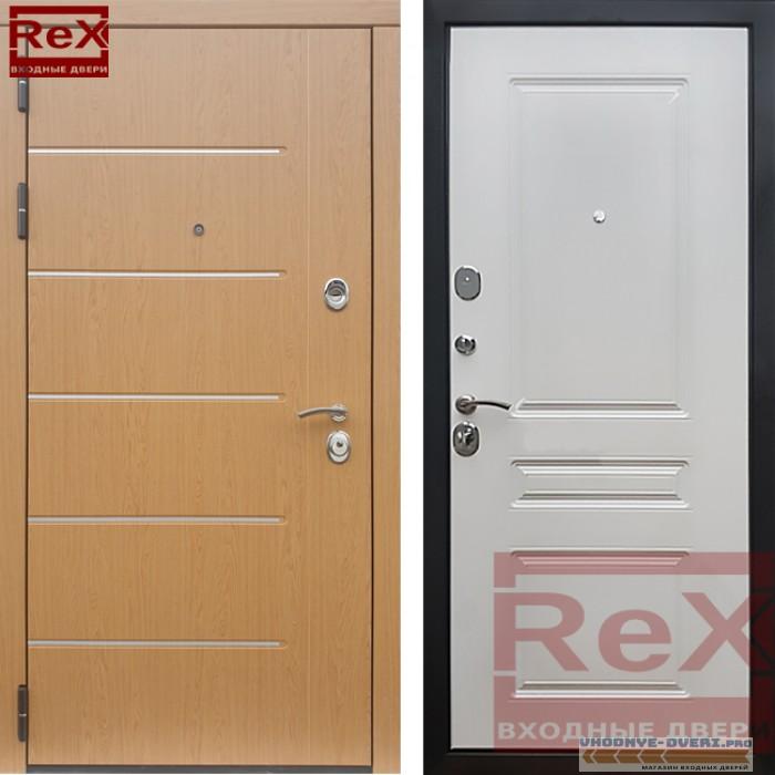 Металлическая дверь REX-10 Белый ясень