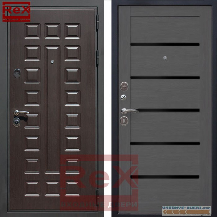 ReX (РЕКС) Премиум 3 CБ-14 Лиственница серая + черное стекло