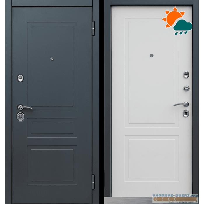 Дверь Йошкар Ола Лорд 2К шагрень графит/белый матовый Ral 9003